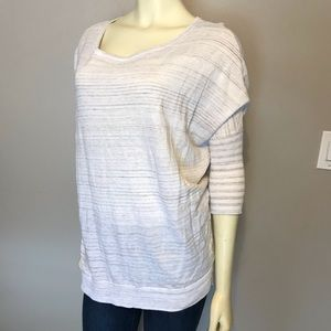 Express White and Tan London Sweater Size S #163